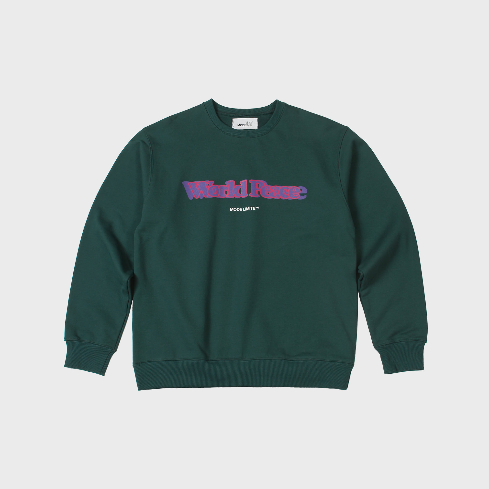 World Peace Sweatshirt Solid Green